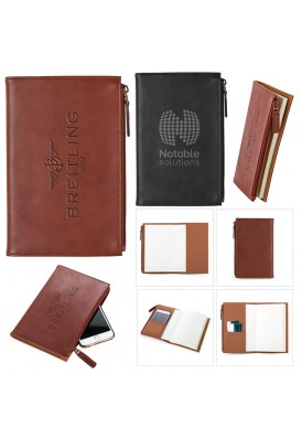 Leather and Suede Technology Pocket Notebook