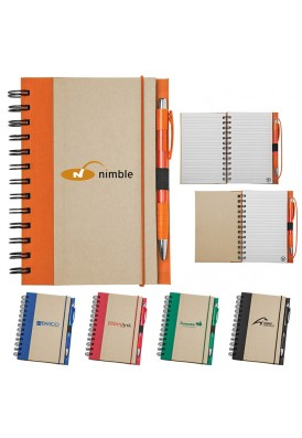 Recycled Color 7 x 5.5 Notebook with Pen