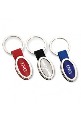 Bold Color Leatherette Key Chain