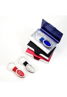 Bold Color Card Case and Key Chain Gift Set
