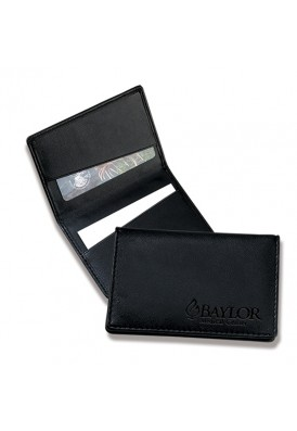 Black Leatherette Wallet and Card Holder