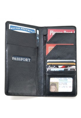 Leatherette Passport Wallet
