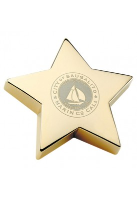 Superstar Gold Paperweight