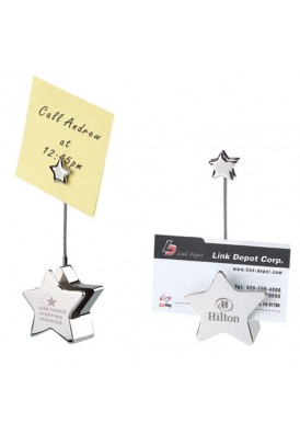 Dual Star Card Holder and Memo