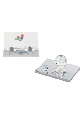 Brilliant Crystal Ball Card Holder