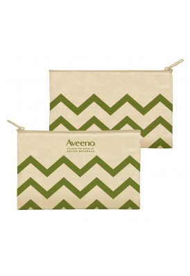 10 Oz Cotton Canvas Zippered Pouch in Chevron
