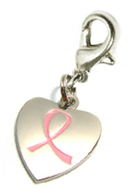 Pink Ribbon Jewelry Charm