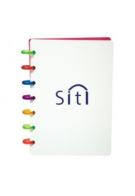 Colorful Rainbow Ring Bounded Notebook