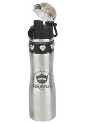24 Oz Leather Studded Collar Water Bottle