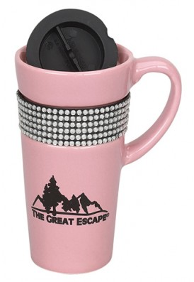 14 Oz Bling Traveling Ceramic Mug