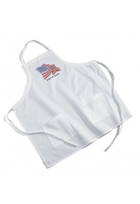 Cotton-Poly Apron White 2 Pocket