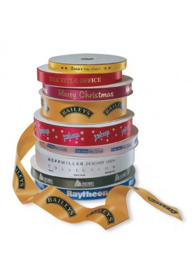 5/8 Inch Custom Branded Satin Retail Ribbon Rolls