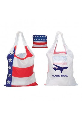 Foldable USA Stars and Stripes Tote