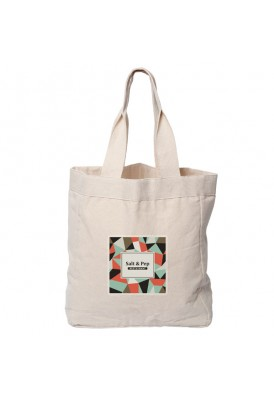 12 Oz Cotton Canvas Gusset Accent Tote Bag