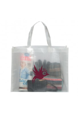 Clear Frosted Non-Woven PolyPro Large Tote