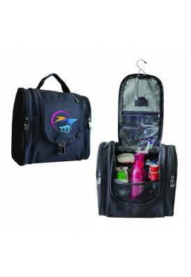 Durable PolyCanvas Hanging Travel Case with Roomy Compartment