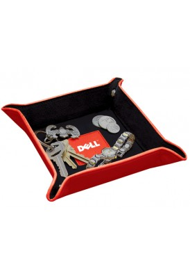 Valuables Leather Valet Tray