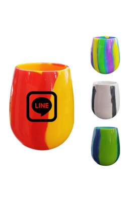 Designer Patterned Silicone Wine Glasses Unbreakable for Indoor/Outdoor I