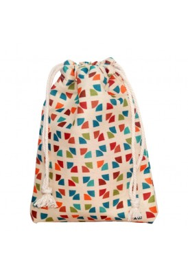 Full Color Printed Drawstring Medium Cotton Pouch 4.75x6.5