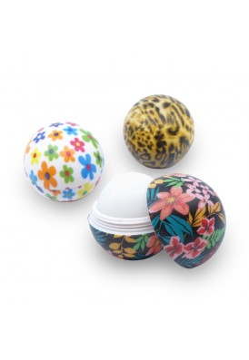 Full Color Printed Lip Balm in Round Jar