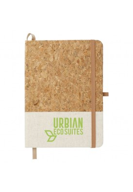 All Natural Cork and Jute Two-Tone 5x7 Journal Notebook