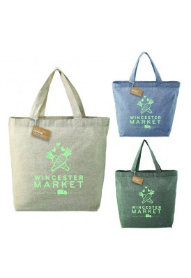 Eco 5 Oz Recycled Cotton Twill Shopper Tote Bag