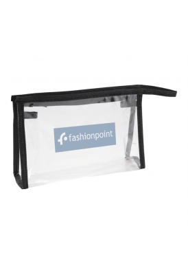 Top Zippered Simple Clear Pouch for Travel or Samples