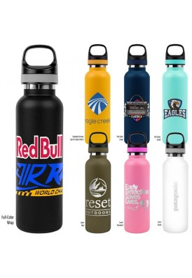 20 Oz Stainless Steel Double-Wall Vacuum Bottle Powder Coated Color