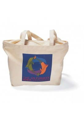 12 Oz Sturdy Canvas Tote with Zippered Closure