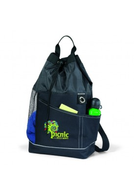 Green PolyCanvas and Mesh Sport Tote