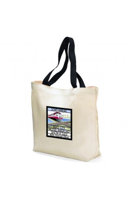 9 Oz. Cotton Canvas Traditional Promo Tote with Colored Straps