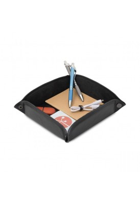 Leatherette Valet Tray Black