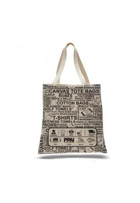 Heavy 12 Oz Cotton Canvas Tote Bag with Edge-to-Edge Printing Large