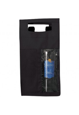 Two Bottle Polypro Nonwoven Wine Tote Bag