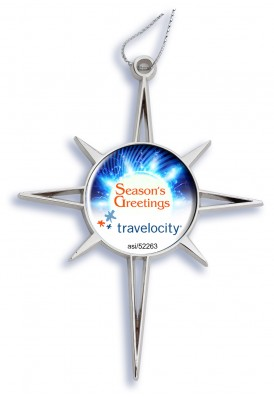 Premium Holiday Die Cast Star Ornament Full Color