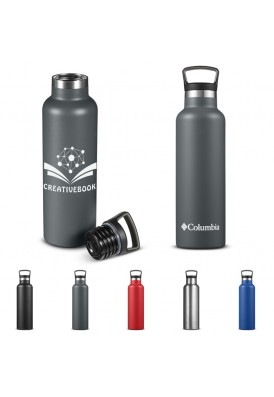 Columbia® 21 Oz Stainless Steel Double-Wall Vacuum Bottle with Carry Top