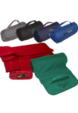Soft Plush Fleece Blanket with Carry Strap
