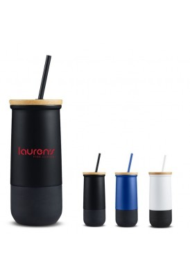 20 Oz Uber Cool Stainless Steel Vacuum Tumbler with Lid and Straw