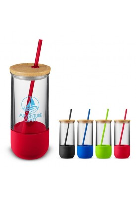 20 Oz Tumbler Drinkware with Silicone Sleeve and Lid