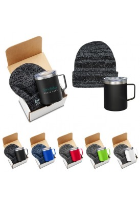 Travel Tumbler and Hat Mailer Gift Set