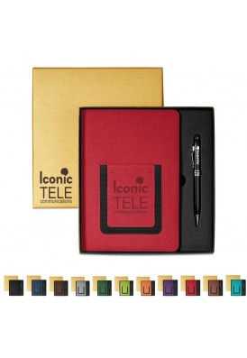 Premium Professional Series Gift Set with Stylus Pen and Leatherette Journal Book