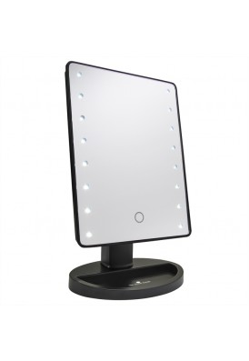 Tabletop LED Mirror With Dimmable Setting and Natural Light Appearance