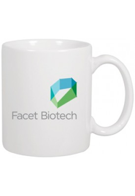White 11 Oz C-Handle Mug Glossy