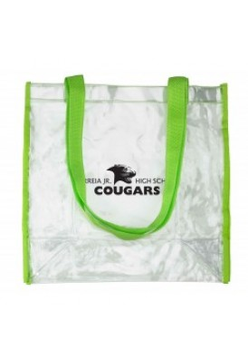 Clear Vinyl Body with Colored Straps Tote