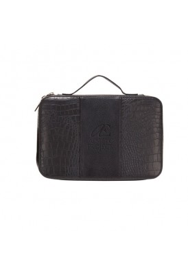 Premium Leather Zippered Cosmetic Travel Case