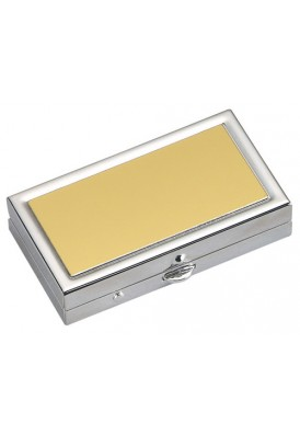 Gold Rectangular Pill Box
