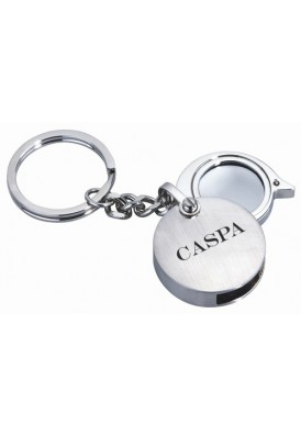 Round Key Chain with Magnifier