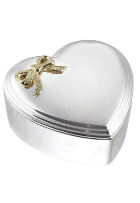 Large Silver Heart Box