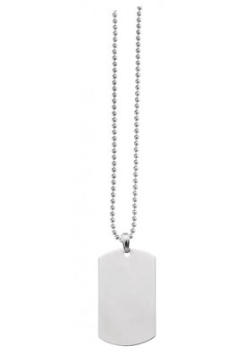 Silver Dog Tag Necklace