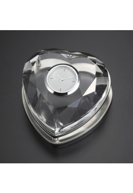 Crystal Heart Shape Clock